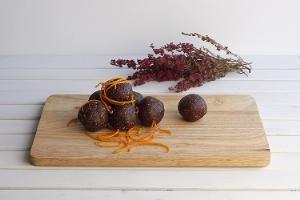 Naranja y cacao puro