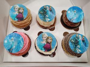 Cupcakes con imagen comestible
