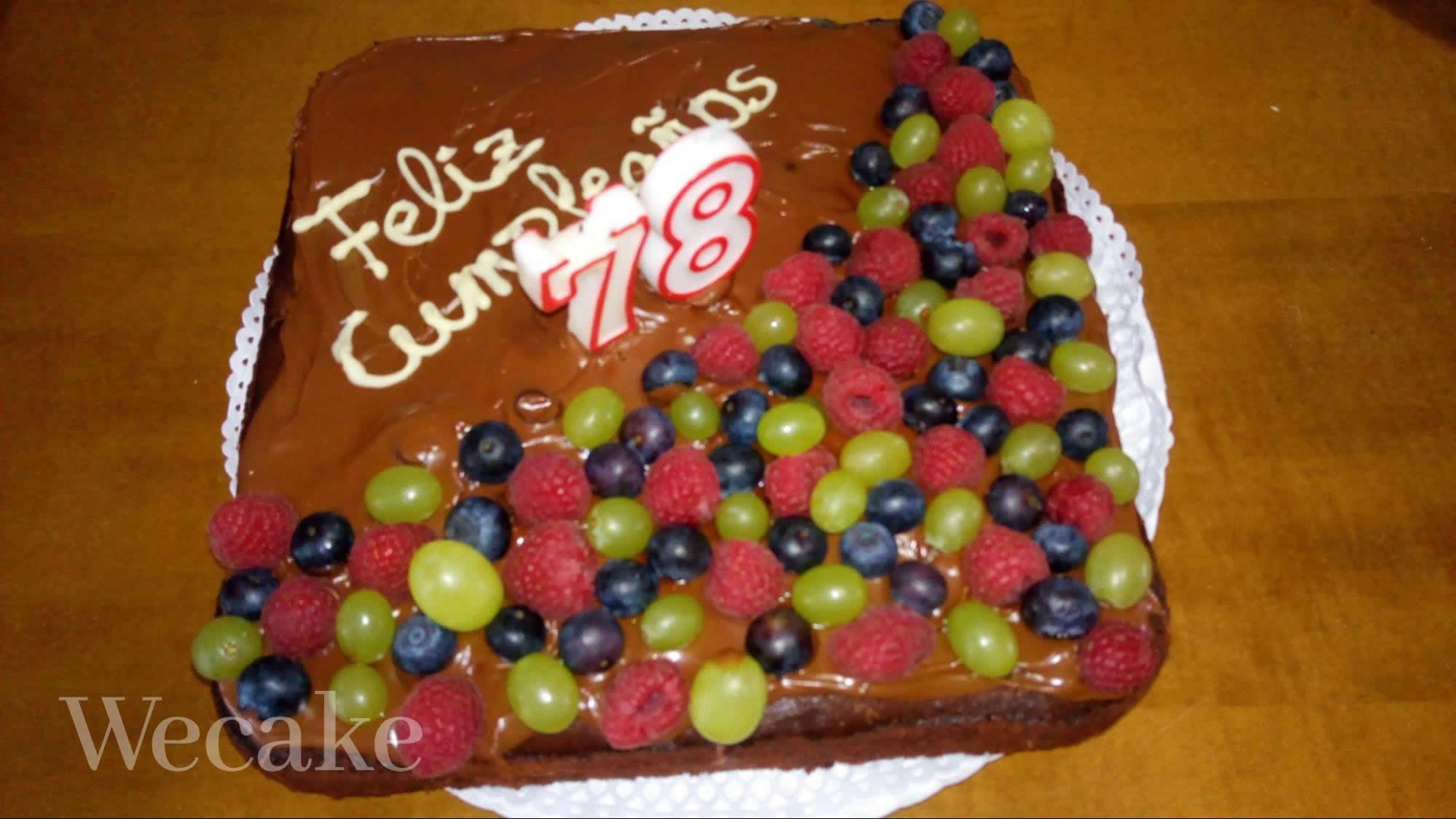 Brownie personalizado para un cumpleaños de un usuario muy chocolatero