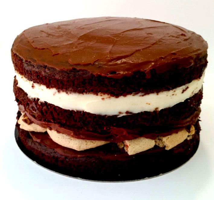 tarta chocolate y cookies sin azucar