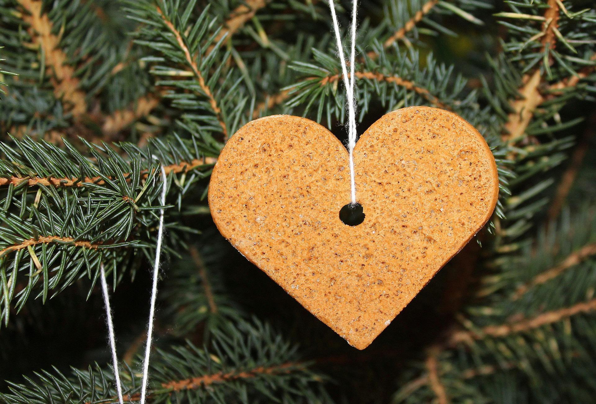 galleta de genjibre en arbol de navidad