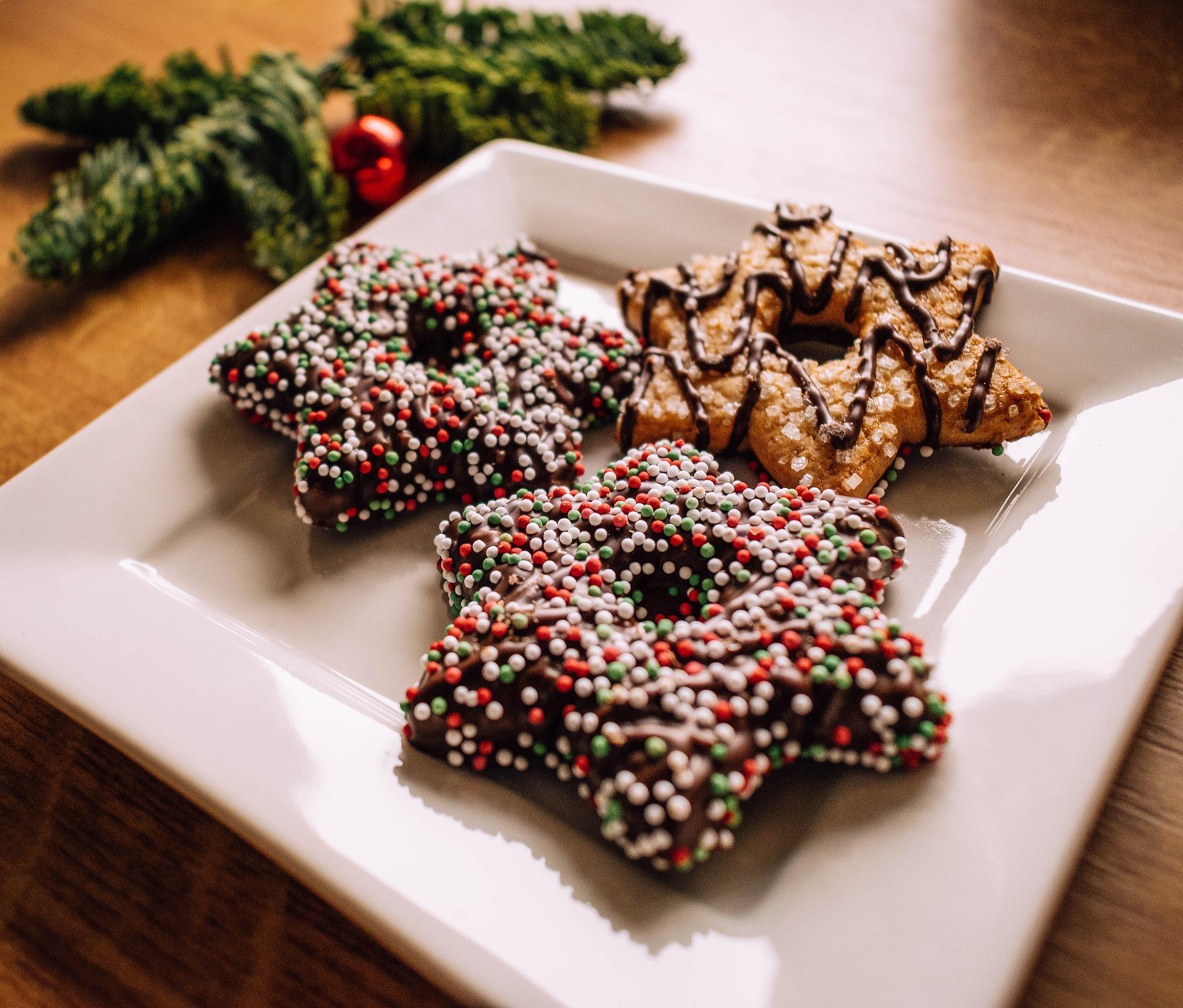 Las estrellas de chocolate no deben faltar entre tus postres navideños