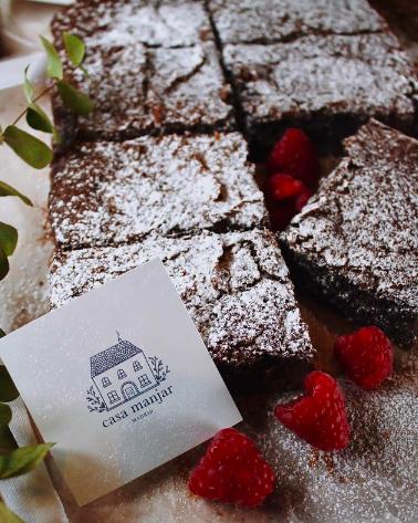 El brownie de Casa Manjar es uno de los favoritos en Instagram