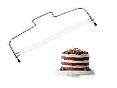 El cortador de hilo es muy eficiente para partir tartas