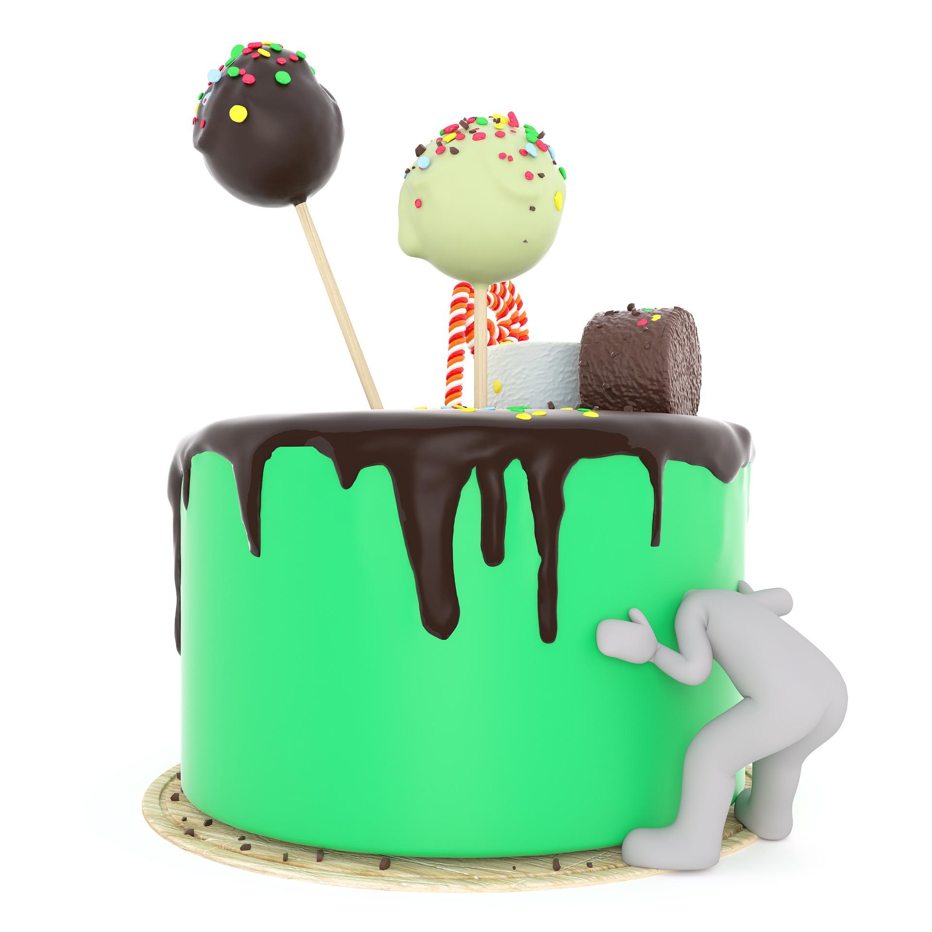 Las tartas rellenas son las más difíciles de cortar