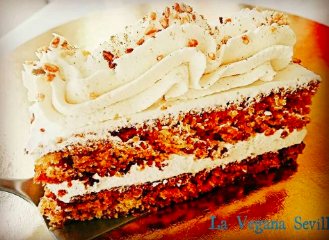 Tarta de zanahoria de Pastelería La Vegana