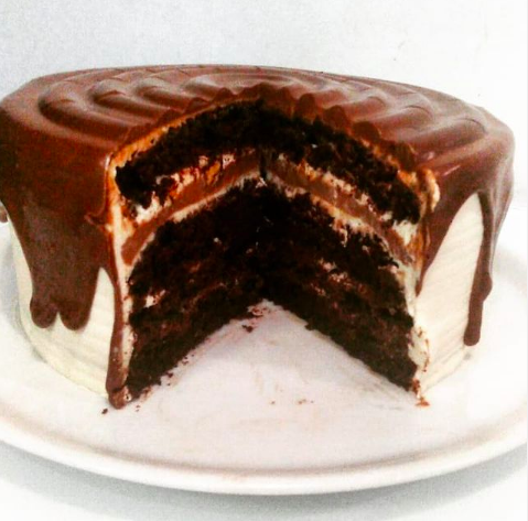 Tarta vegana de chocolate y cacahuete de Sweet Paradise, pastelería de Tenerife