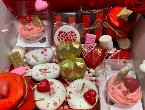 Los corazones son los protagonistas en los postres de San Valentín