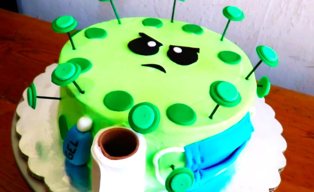 La tarta con forma de COVID se ha popularizado durante la pandemia