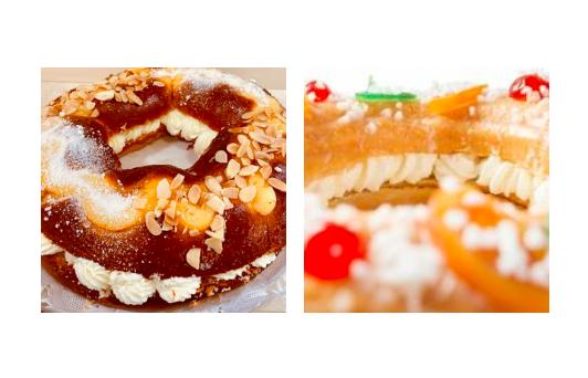 Corona de la Almudena y Roscón de Reyes, dulces similares pero con diferencias significativas