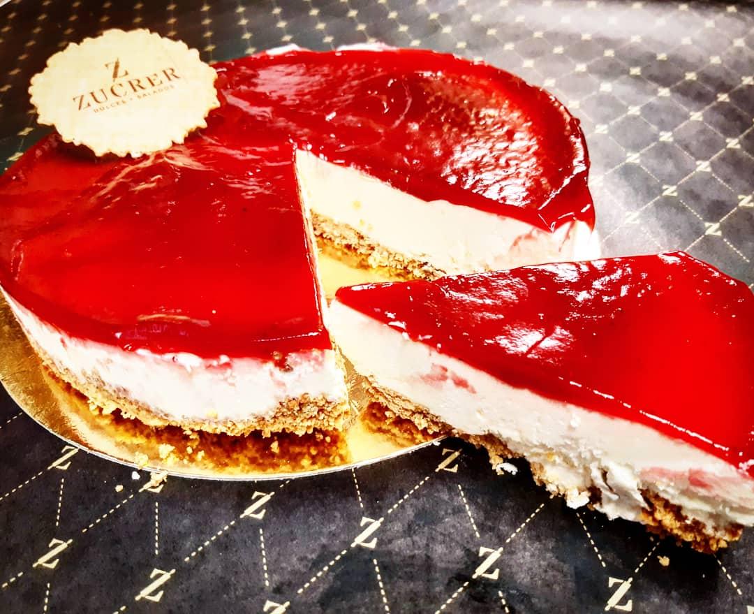 Cheesecake de Pastelería Zucrer, en Huesca