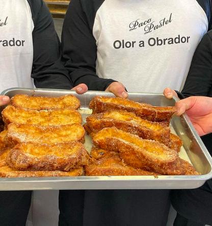 La torrija de Paco Pastel la elaboran con un pan brioche que hacen ellos mismos