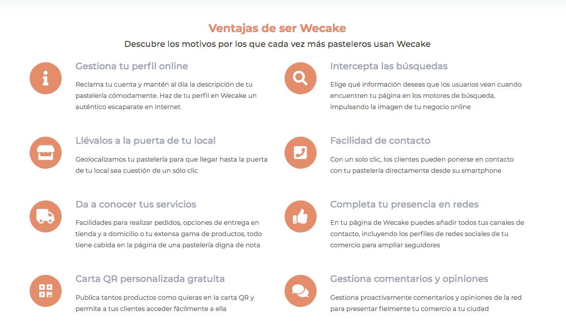 Wecake ofrece una diversidad de ventajas al pastelero artesano de cada punto de España
