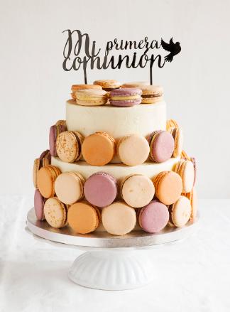 Las tartas de comunión de macarons son un imprescindible hoy en día