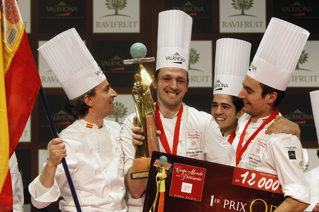 Jordi Bordas, tras ganar la Copa del Mundo de Pastelería
